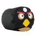 """Пуфик """"Птичка"""" экокожа (43 x 43 см) Исполняется в черном и красном цветах."""